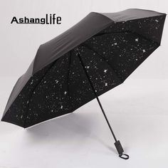 Ashanglife(Ashanglife) Black rubber twist creative black sky black umbrella UV umbrella umbrella for men and women #Affiliate