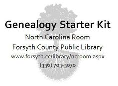 For those who are just getting started in researching their family history, the North Carolina Room has created a Genealogy Starter Kit. You can pick up a free copy from the North Carolina Room or …