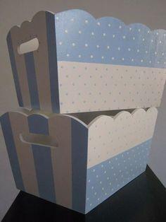 caja -cajas-set portaajuar y pañalera fibrofacil pintada Baby Decor, Kids Decor, Home Decor, Kit Bebe, Decoupage Box, Do It Yourself Crafts, Diy Home Crafts, Vintage Crafts, Painting On Wood