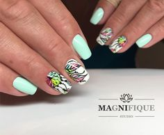 "Dreamcatcher nails naildesign nails art Magnifque Studio (@magnifique_studio_indigo_nails) auf Instagram: ""See U later, Alligator #Indigo #indigomiami #indigolovers #indigonails #indigonailslab #summernails…"""