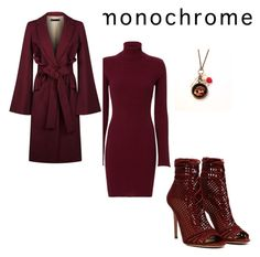 """""""red"""" by fantasy1978 ❤ liked on Polyvore featuring Autumn Cashmere and Elie Saab"""