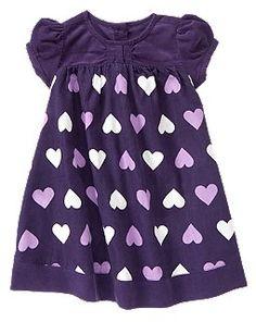 Heart Corduroy Dress