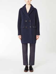 Max Mara OTTOBRE midnightblue: Wool and alpaca coat.