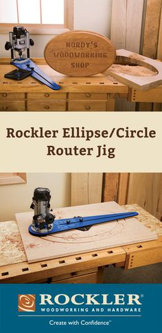 Rockler Ellipse/Circle Router Jig Now you can easily create perfect circles, ellipses and sweeping arcs!