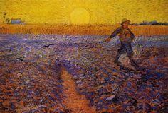 Autor: Vincent Van Gogh Sembrador al Sol Poniente Fecha: 1888 Museo: Museo Kr...