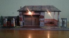 """The Generic Garage Paper Model - Assembled by Bartek Godai - == -  My Polish friend, designer and modeler Bartek """"Godai"""" Biedrzycki built the Generic Garage Paper Model and kindly sent me some photos. If you want to Build your own Generic Garage Paper Model, the link is below, at the end of this post."""