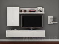 Como trabajar el durlock para hacer un mueble para el tele for Racks y modulares para living