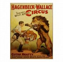 Shop Vintage Circus Poster, Lion Tamer Poster created by yesterdaysgirl. Personalize it with photos & text or purchase as is! Vintage Circus Posters, Vintage Carnival, Old Circus, Circus Art, Circus Room, Circus Nursery, Circus Clown, Circus Theme, Tame Animals