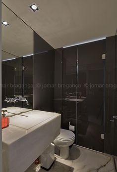 Banho transformado em lavabo. Projeto: Maycon Altera. Foto: Jomar Bragança
