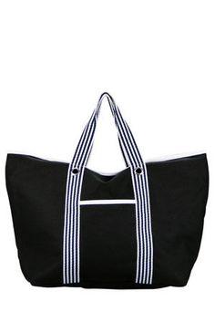 CONDURA Tote with Striped Handles Gym Bag, Handle, Bags, Fashion, Handbags, Moda, Fashion Styles, Duffle Bags, Taschen