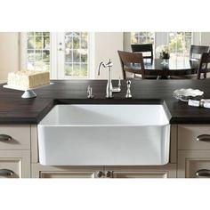Blanco Cerana White Fireclay 30-inch Apron-front Sink