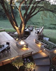63 The Most Popular Outdoor Living Room Decoration Models Tips To Furnishing Your Outdoor Living Space 36 ~ Top Home Design Backyard Patio, Backyard Landscaping, Sloped Backyard, Landscaping Ideas, Deck Design, Garden Design, Terrace Design, Home Design, Chair Design