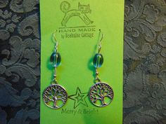 Tree of Life Earrings by BealtaineCottage on Etsy