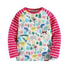 Cute Girls Cotton Long Sleeve Tshirt, birthday / christmas / new year gift (ad)