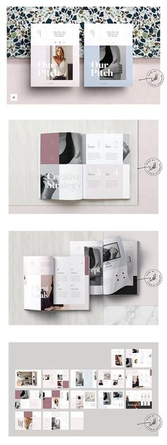 ROSE is a beautifully designed proposal template for use with Adobe Indesign. It provides a stunning way to pitch your concepts to clients and is ideal for mood Booklet Layout, Booklet Design, Brochure Design, Branding Design, Brochure Template, Business Proposal Template, Proposal Templates, Pitch, Product Catalog Template