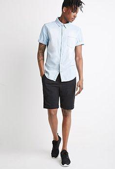 Cuffed Drawstring Shorts   21 MEN - 2000054183