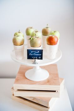 Cleverly Displayed Apples {Apple Cones}