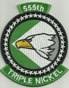 "USAF 555th FS Fighter Squadron ""TRIPLE NICKEL"" Military Patch"