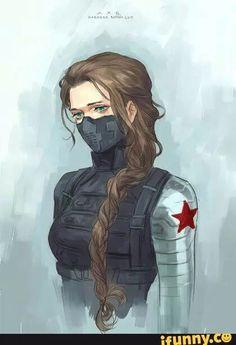 Female Winter Soldier/Bucky Barnes Catsuit Tactical suit