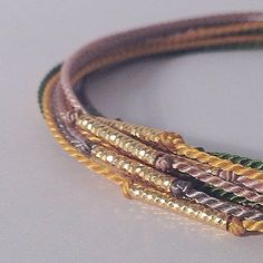 S I L K B R A C E L E T S  9 2 5  G O L D  #silk #bracelet #925silver #gold #jewellery