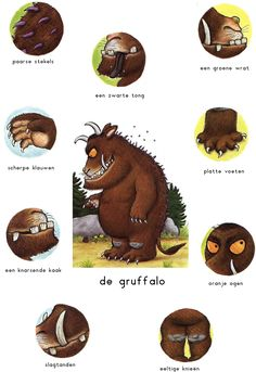 Praatplaat: De Gruffalo Gruffalo Costume, Gruffalo Party, The Gruffalo, Gruffalo Activities, Educational Activities, Activities For Kids, Halloween Kids, Halloween Themes, Gruffalo's Child