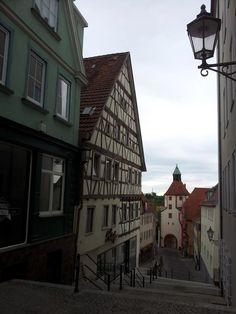 The City door and tower in Hechingen, County Zollern-Alb