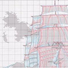Морское путешествие схема вышивки
