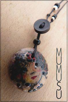 Cuélgate un cuadro!! Ilustración originalMU sobre pieza cerámica. 3cm www.mumusu.es