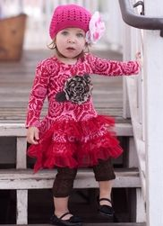 Giggle Moon Ruby Red Ruffle Dress only $64.00 - Fall 2012 Preview