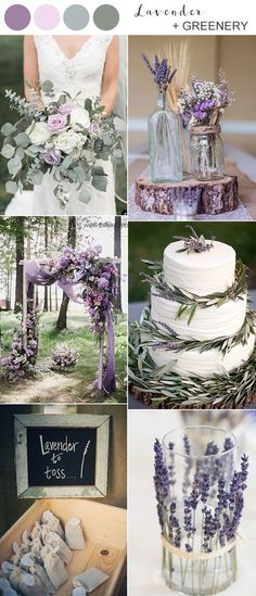 lavender and greenery wedding color ideas