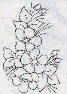 pattern number and company unk Embroidery Patterns Free, Hand Embroidery Designs, Ribbon Embroidery, Floral Embroidery, Embroidery Stitches, Fabric Paint Designs, Painting Patterns, Fabric Painting, Sketches