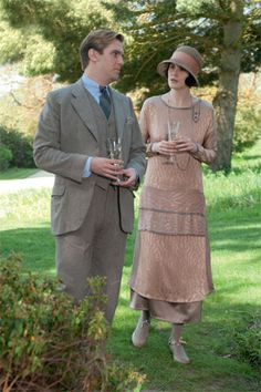 'Downton Abbey' Love the clothes.