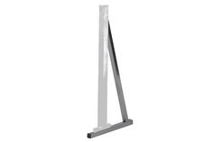 Alvas Floor Mount Adaptors are used to convert Free Standing Units into Floor Mount Units. One Floor Mount Adaptor is needed for each leg of the Free Standing Unit. It is made of steel with a bright chrome finish. Lag bolts included. #alvasbfm #dance #ballet #fitness #exercise #floormount #adapter #permanent