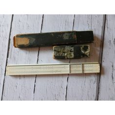 Vintage Faber Castell Wooden Slide Rule 1928-1942 Era in Original... ($37) ❤ liked on Polyvore featuring home and home decor