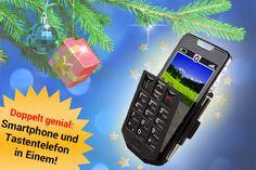 Eine ganz schön clevere Sache: Das Emporia Smart ist ein Smartphone, welches sich wahlweise als Touchscreen-Handy oder mit Tastatur benutzen lässt. Für doppeltes Telefoniervergnügen! Nur noch für kurze Zeit zum Sonderpreis!