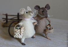 Купить Мышки - подружки - мышка, мышь, мышки, мышка игрушка, войлочная игрушка