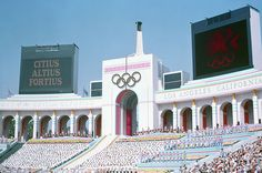 Olympic Torch Tower, Los Angeles Coliseum, the Coliseum hosted the Olympic Games in 1932 and 1984.
