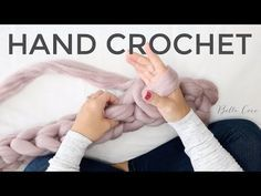 How To Hand Crochet a Blanket - Easy Tutorial For Beginners + Video knitting for beginners knitting ideas knitting patterns knitting projects knitting sweater Crochet Pouf, Crochet Scarf Easy, Crochet For Beginners Blanket, Chunky Crochet, Knitting For Beginners, Crochet Blanket Patterns, Scarf Patterns, Chunky Yarn, Crochet Lace