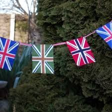 multi coloured Union Jack bunting
