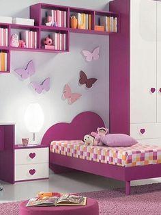 Simple Bedroom Design, Kids Bedroom Designs, Bedroom Bed Design, Cute Bedroom Ideas, Kids Room Design, Bedroom Decor, Funky Bedroom, Small Room Bedroom, Study Room Decor