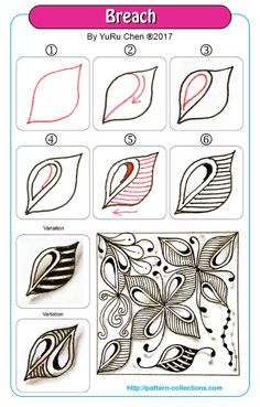 Drawing ideas step by step doodles zentangle patterns Ideas for 2019 Doodles Zentangles, Tangle Doodle, Zentangle Drawings, Zentangle Patterns, Doodle Drawings, Doodle Art, Zen Doodle Patterns, Doodle Borders, Easy Drawings
