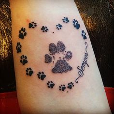 tattoo-journal | 65 Best Paw Print Tattoo Meanings and Designs – Nice Trails | http://tattoo-journal.com