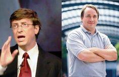 Bill Gates e Linus Torvalds