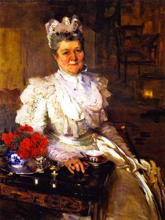 The Athenaeum - Mrs. Thomas A. Scott (Anna Riddle) (Cecilia Beaux - )