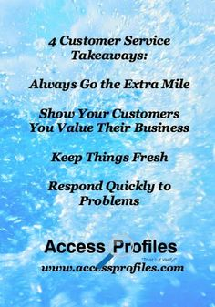 """Access Profiles, Inc. """"What Being on Vacation Taught Me about Business""""  #customerservice"""