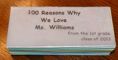Teacher Gift Idea: Teacher Appreciation Money and Quote Book