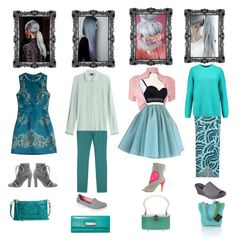 """I Sway for Gray and Squeal for Teal"" by christined1960 ❤ liked on Polyvore featuring Roberto Cavalli, HOBO, W by Worth, Tara Jarmon, Skechers, Marc by Marc Jacobs, WearAll, Konstantina Tzovolou, ViX and DKNY"