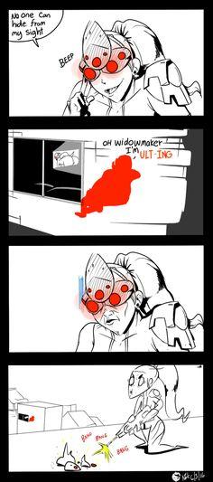 Mmmm damn xD Widowmaker: Wtf did i just see?!