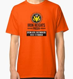 Iron Heights Prison T-shirt design    Inspired by Arrow and The Flash  Iron Heights Prison, formerly known as Iron Heights Penitentiary, is a detention facility located near Keystone City. Visiting hours for the prison is between 1:30 pm and 3:45 pm on weekdays.