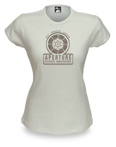 Aperture Science Innovators retro-T - actually snagged this for free at PAX East 2011, now available on ThinkGeek Aperture Logo, Aperture Science, Science Shirts, Portal 2, Cute Shirts, Nerdy Things, Nerd Stuff, 1940s, Cool Outfits